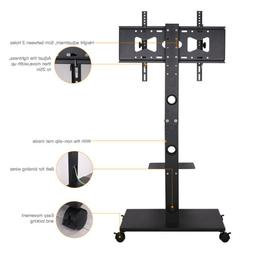TV Television Stand Mount Rolling Wheel Cart Heavy Duty for
