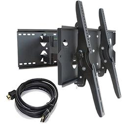 2xhome new tv wall mount bracket  hdmi cable secure cantilev
