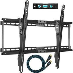 """TV Wall Mount for 20-75"""" TVs 10' Braided HDMI Cable & a 6"""" M"""