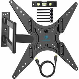 PERLESMITH TV Wall Mount with HDMI Cable, Bubble Level & Cab