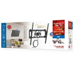 "Barkan TV Wall Mount with Integrated HDTV Antenna 19"" - 65"""