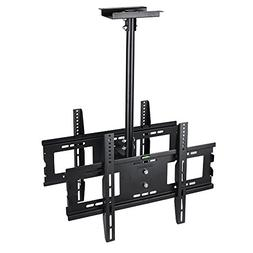 UNHO Dual Screen Rotating and Tilting Ceiling TV Mount for D