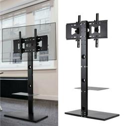 "Universal 32-65"" Floor TV Stand Mount Strong Metal Base Medi"