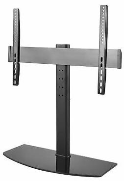 Universal LCD Flat Screen TV Table Top Stand w/ Glass Base /