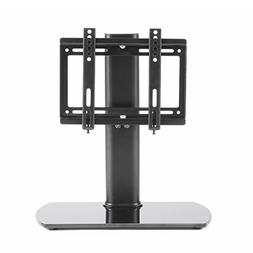 Rfiver Universal TV Stand Black Table Top TV Stand Base with