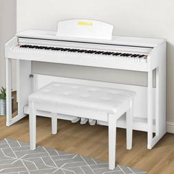 Weighted Hammer Action Electric Digital 88 Key Piano w/Bench