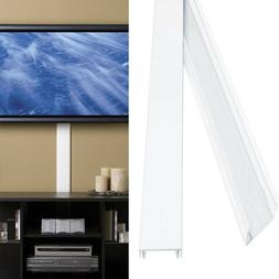 White Paintable Flat Screen TV Cord Hider Cover Organizer Ca