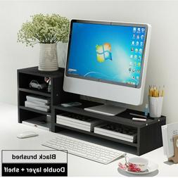 Wood TV Stand Wall Mount Media Entertainment Console Center